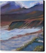 Jalama Beach At Sunset Canvas Print