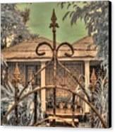 Jamaican Gate Canvas Print by Jane Linders