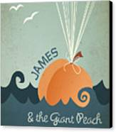 James And The Giant Peach Canvas Print by Megan Romo