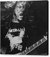 James Hetfield Pencil 1987 Canvas Print by Brian Carlton
