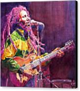 Jammin - Bob Marley Canvas Print by David Lloyd Glover