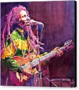 Jammin - Bob Marley Canvas Print by David Lloyd Glover