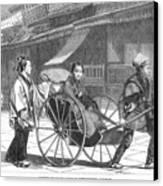 Japan: Rickshaw, 1874 Canvas Print by Granger