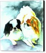 Japanese Chin Dog Canvas Print by Christy  Freeman