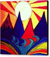 Japanese Sunrise Canvas Print