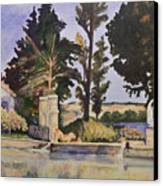Jas_de_bouffan_after_cezanne Canvas Print by Don Perino