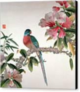 Jay On A Flowering Branch Canvas Print by Chinese School