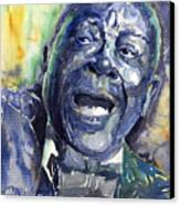 Jazz B.b.king 04 Blue Canvas Print