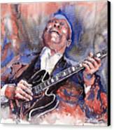 Jazz B B King 05 Red A Canvas Print