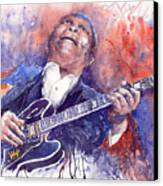 Jazz B B King 05 Red Canvas Print