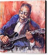Jazz B B King 06 A Canvas Print by Yuriy  Shevchuk