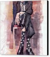 Jazz Bluesman John Lee Hooker Canvas Print by Yuriy  Shevchuk