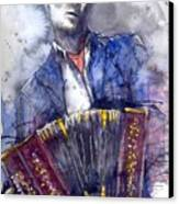 Jazz Concertina Player Canvas Print