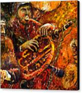 Jazz Gold Jazz Canvas Print