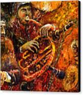 Jazz Gold Jazz Canvas Print