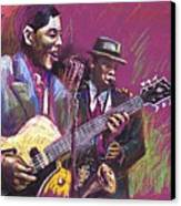 Jazz Guitarist Duet Canvas Print