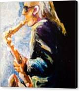 Jazz Man Canvas Print by Karen  Ferrand Carroll