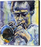 Jazz Miles Davis 12 Canvas Print by Yuriy  Shevchuk