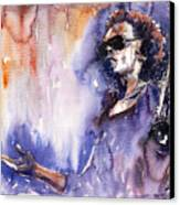 Jazz Miles Davis 14 Canvas Print by Yuriy  Shevchuk