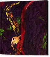 Jazz Red Saxophonist Canvas Print
