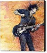 Jazz Rock Guitarist Stone Temple Pilots Canvas Print by Yuriy  Shevchuk