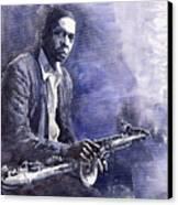 Jazz Saxophonist John Coltrane 03 Canvas Print by Yuriy  Shevchuk