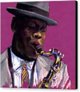 Jazz Saxophonist Canvas Print
