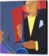 Jazz Sharp Canvas Print by Kaaria Mucherera