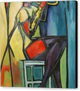 Jazz Trumpet Player Canvas Print