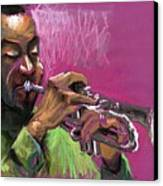 Jazz Trumpeter Canvas Print