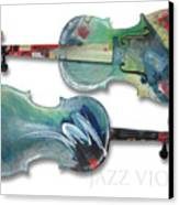 Jazz Violin - Poster Canvas Print