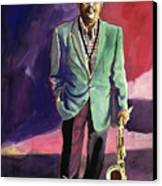 Jazzman Ben Webster Canvas Print by David Lloyd Glover