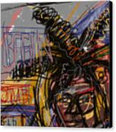 Jean Michel Basquiat Canvas Print by Russell Pierce