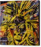 Jean Michel Canvas Print by Russell Pierce