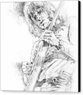 Jeff Beck - Truth Canvas Print by David Lloyd Glover