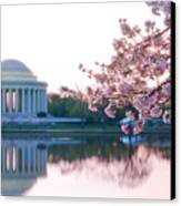 Jefferson At Sunrise Canvas Print by Don Lovett