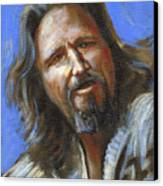 Jeffrey Lebowski - The Dude Canvas Print by Buffalo Bonker