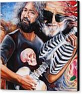 Jerry Garcia And The Grateful Dead Canvas Print