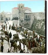 Jerusalem: Bazaar, C1900 Canvas Print