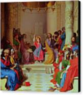Jesus Among The Doctors Canvas Print by Ingres