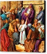 Jesus As A Child Canvas Print by John Lautermilch