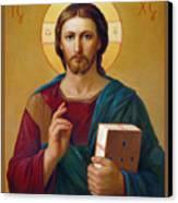 Jesus Christ Pantocrator Canvas Print by Svitozar Nenyuk