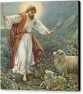 Jesus Christ The Tender Shepherd Canvas Print