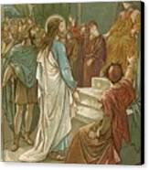 Jesus In Front Of Pilate Canvas Print by John Lawson
