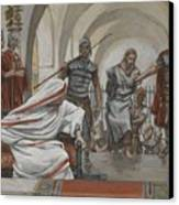 Jesus Led From Herod To Pilate Canvas Print by Tissot