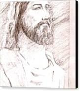 Jesus Canvas Print by Nevis Jayakumar