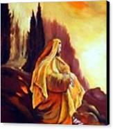 Jesus On The Mountain Canvas Print