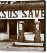Jesus Saves 1973 Canvas Print