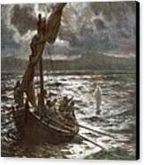 Jesus Walking Upon The Sea Canvas Print by William Brassey Hole