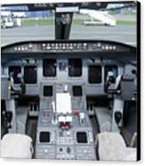 Jet Airplane Cockpit Canvas Print by Jaak Nilson